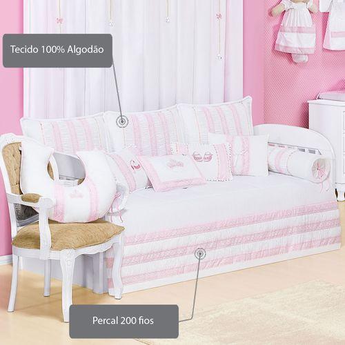 Kit cama bab imperial rosa 11 pe as 200 fios casatema for Cama imperial