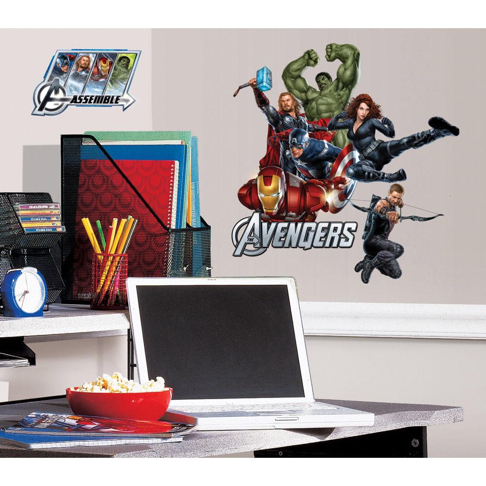 Adesivo De Parede Dos Vingadores ~ Adesivo Os Vingadores (Avengers) da Marvel removível Roommates CasaTema