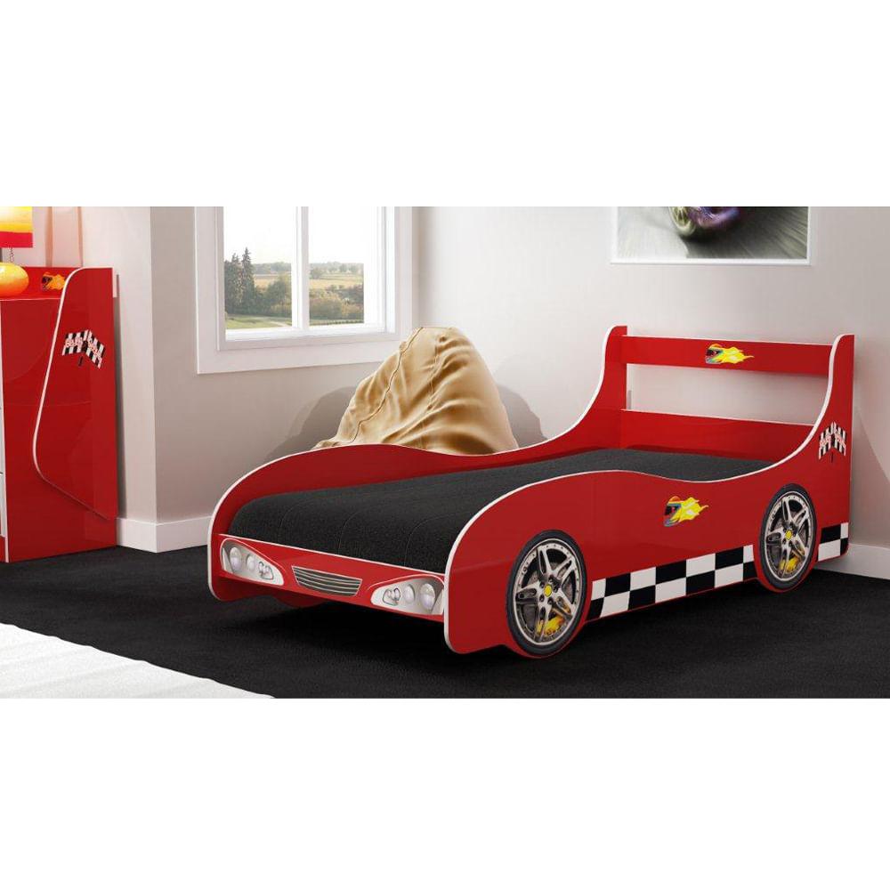 Cama infantil carro rally vermelha casatema casatema - Cama coche infantil ...
