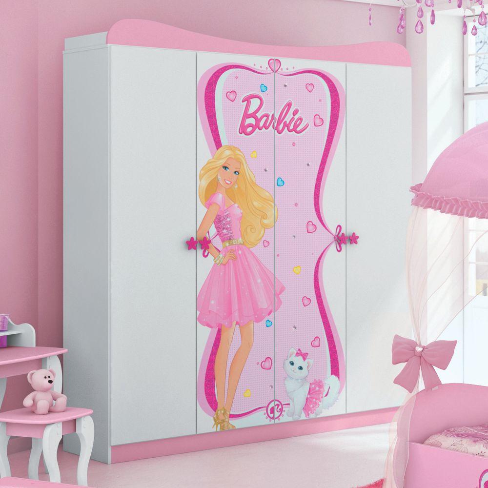 Cerveja Artesanal Juiz De Fora ~ Guarda Roupa Infantil 4 portas Barbie Star Rosa e Branco com Pedras Decorativas u2013 Casat