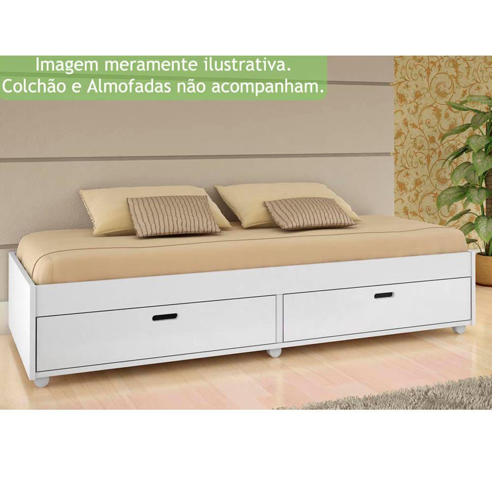 Sof cama puff branco conquista casatema - Sofas cama de 1 20 cm ...