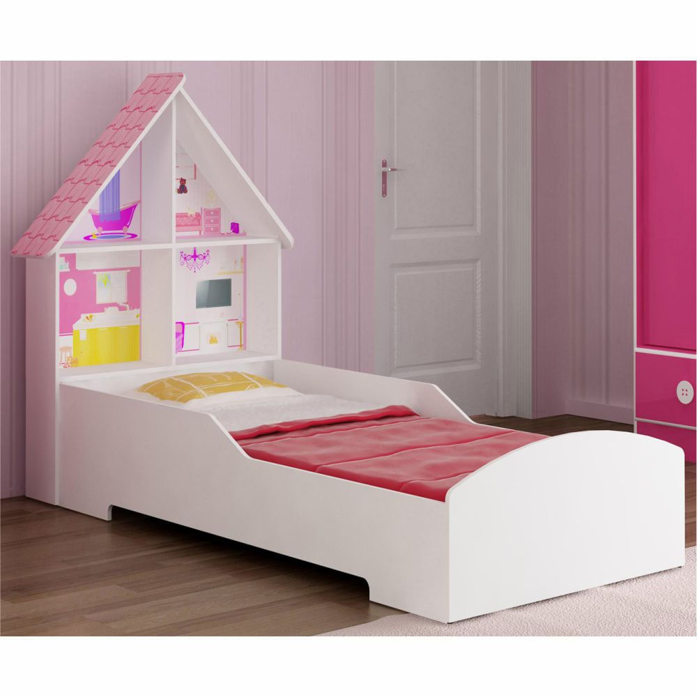 Cama infantil casinha branca casatema casatema - Dosel para cama infantil ...