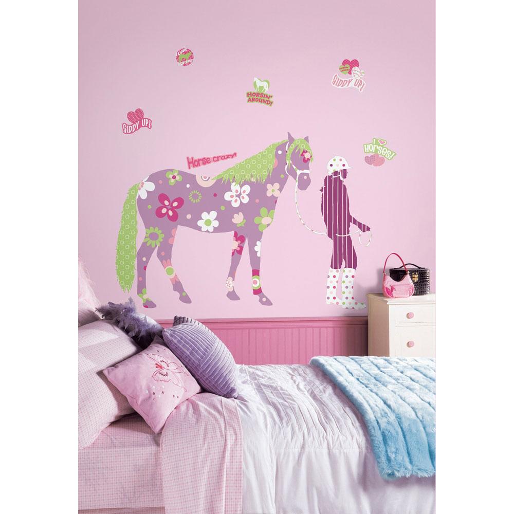 Adesivo Cavalo Gigante Remov Vel Roommates Casatema ~ Espelho Para Quarto Infantil E Quarto De Bebe Cavalinho