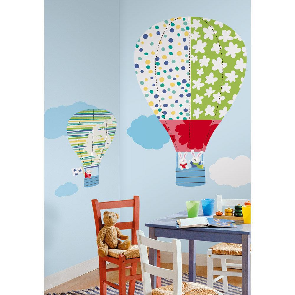 Aparador Cocina Madera ~ Adesivo removível de Balões de ar quente gigante Roommates CasaTema