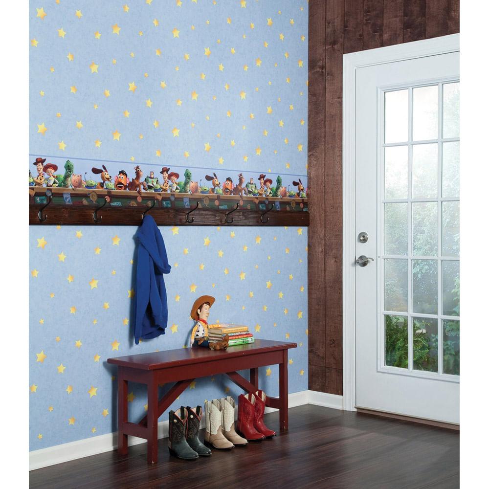 Quarto Toy Story ~ Papel de Parede Toy Story Azul Disney York CasaTema