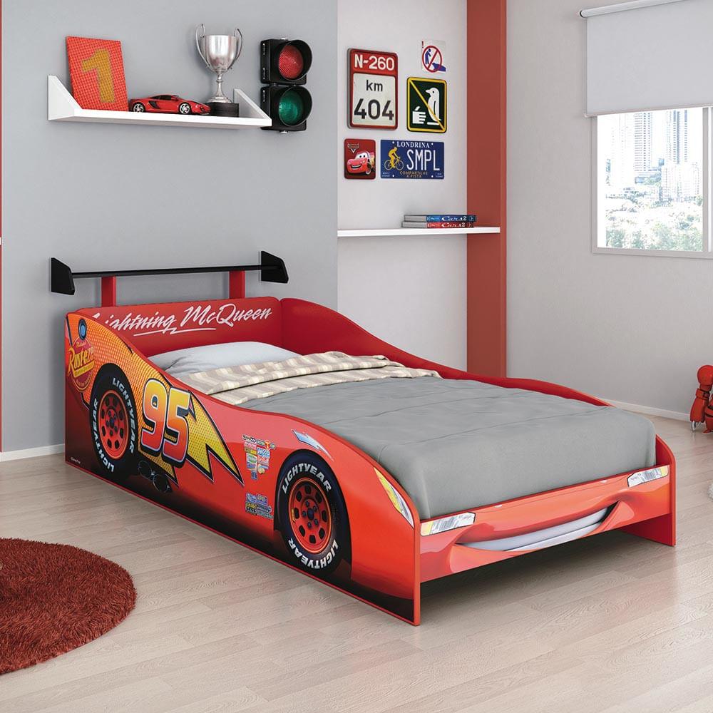 Cama infantil carros disney plus com aerof lio 100 mdf - Cama coche infantil ...