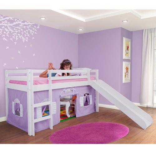 Cama Infantil com Telhado, Grade de Proteção e Gavetão ou