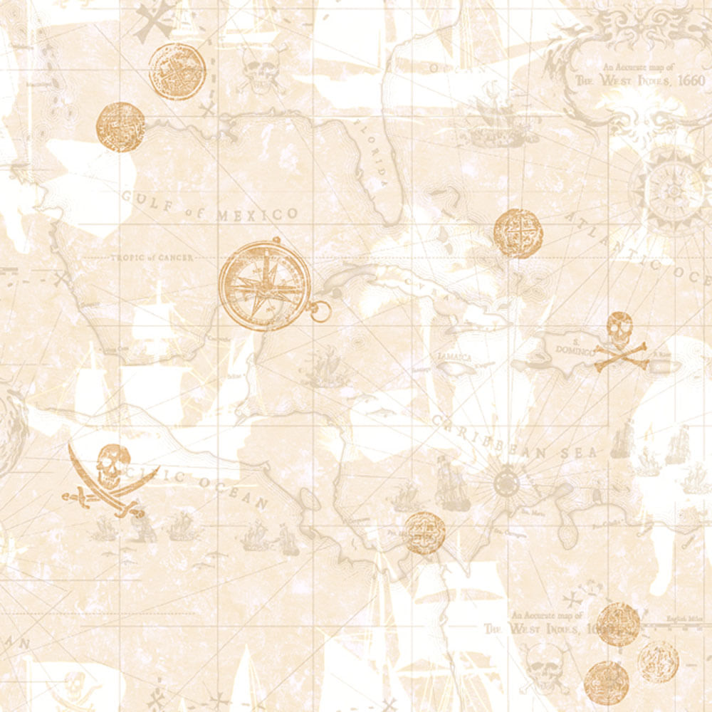 Papel de parede infantil mapa do pirata nude claro boys - Papel pared online ...