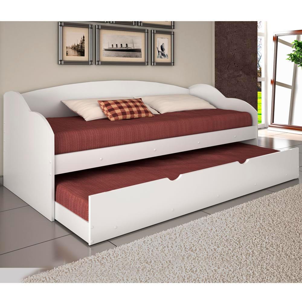 Sof cama funny com cama auxiliar conquista casatema - Sofas cama de 1 20 cm ...