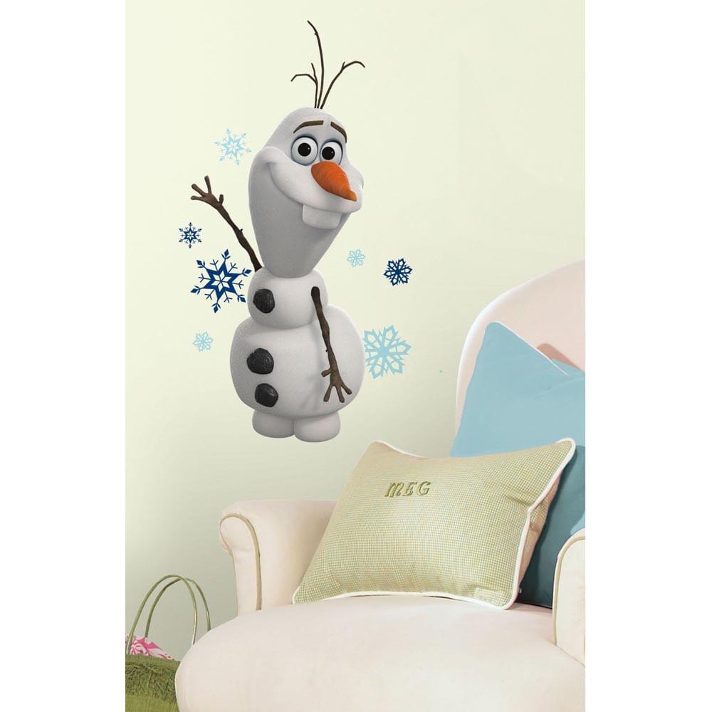 Aparador Walmart ~ Adesivo removível infantil Frozen Disney Olaf Gigante u2013 Roommates CasaTema