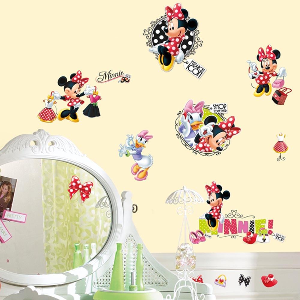 Papel De Parede Adesivo Herois ~ Adesivo removível infantil Minnie Compras u2013 Roommates CasaTema