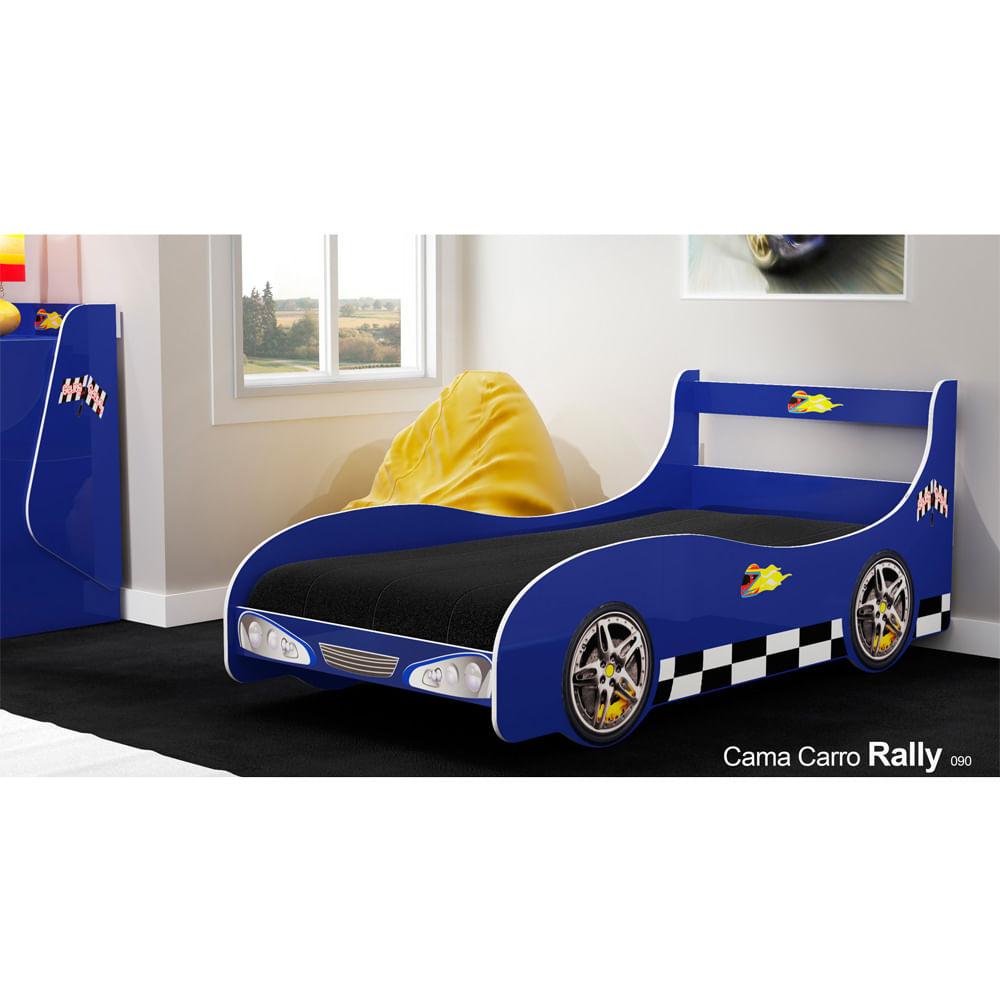 Cama infantil carro rally azul casatema casatema - Cama coche infantil ...