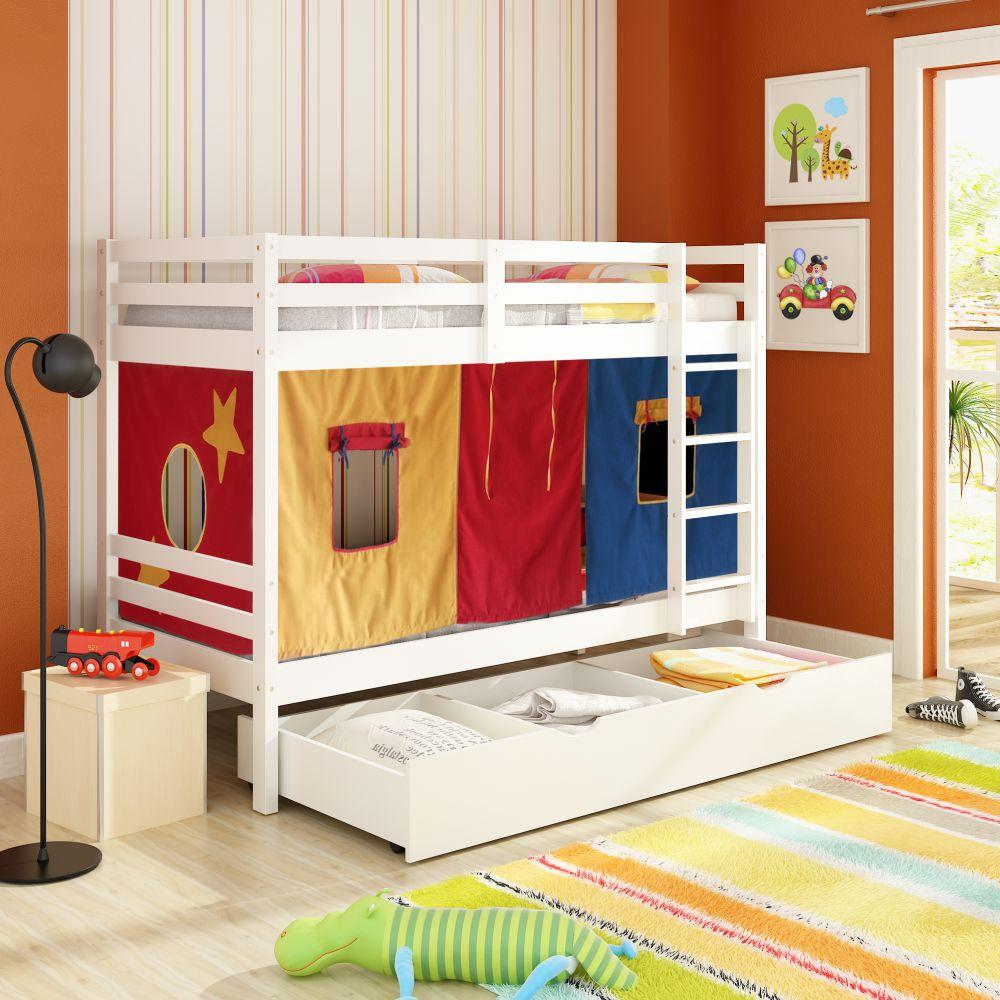 Beliche treliche multifuncional e gavet o cama auxiliar - Mesa auxiliar de cama ...