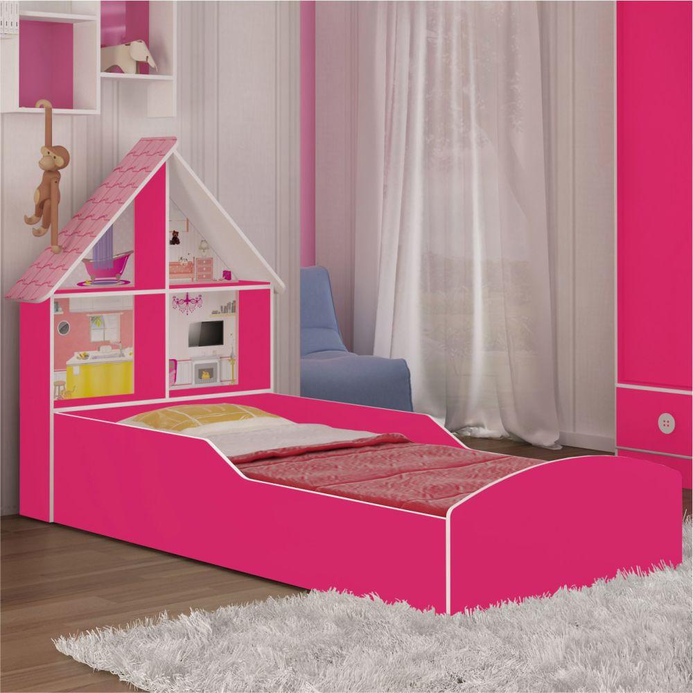 Cama infantil casinha pink ploc casatema casatema - Doseles para camas infantiles ...