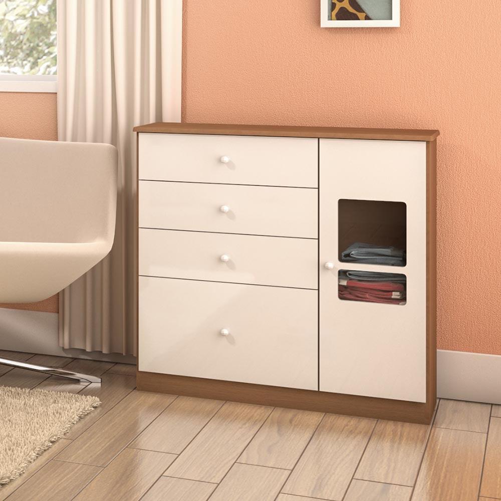 C moda p quarto de beb 1 porta 4 gavetas e vidro - Comoda de bebe segunda mano ...