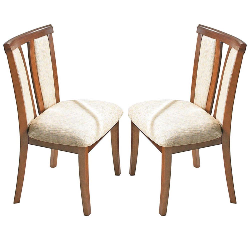 Kit Cadeiras Sala De Jantar ~ Kit 2 Cadeiras p Sala de Jantar Berlim c Madeira Maciça Eucalipto