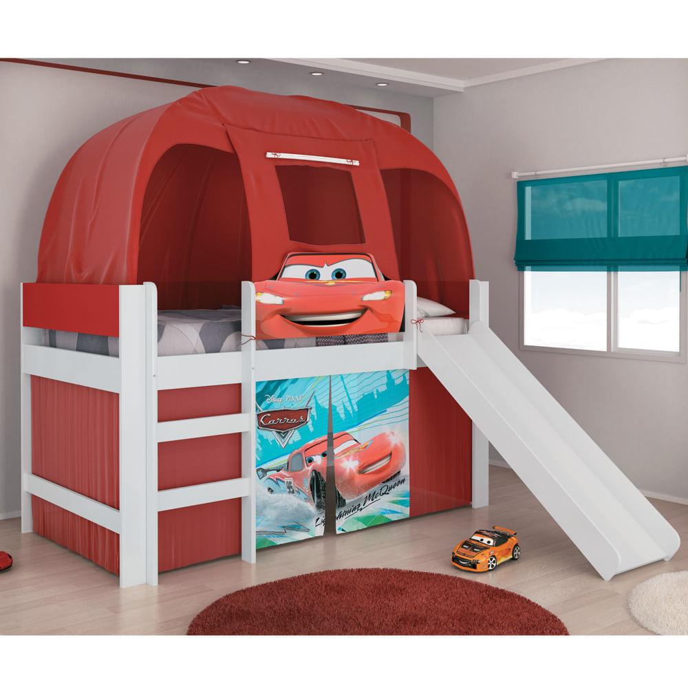 Cama infantil carros disney play com escorregador cabana - Cama coche infantil ...
