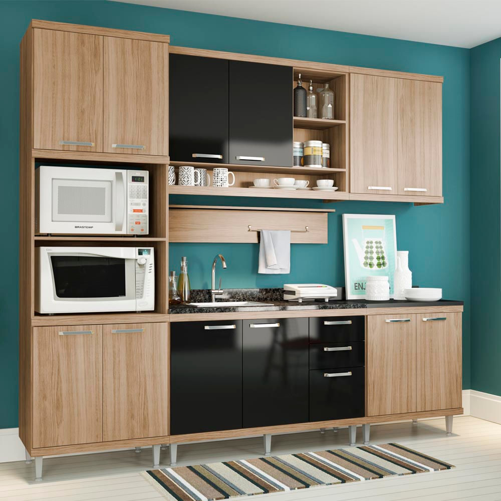 Armario De Cozinha Promoo Finest Cozinha Compacta Itatiaia Luce