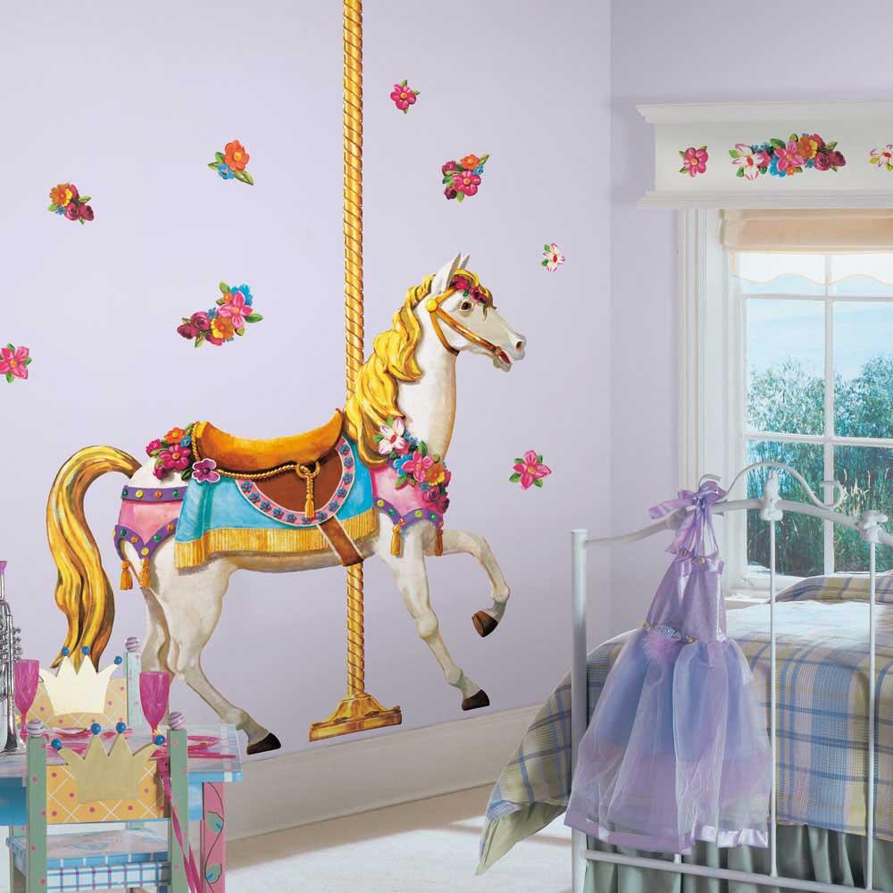 Adesivo Remov Vel Cavalo Do Carrossel Gigante Roommates Casatema ~ Espelho Para Quarto Infantil E Quarto De Bebe Cavalinho