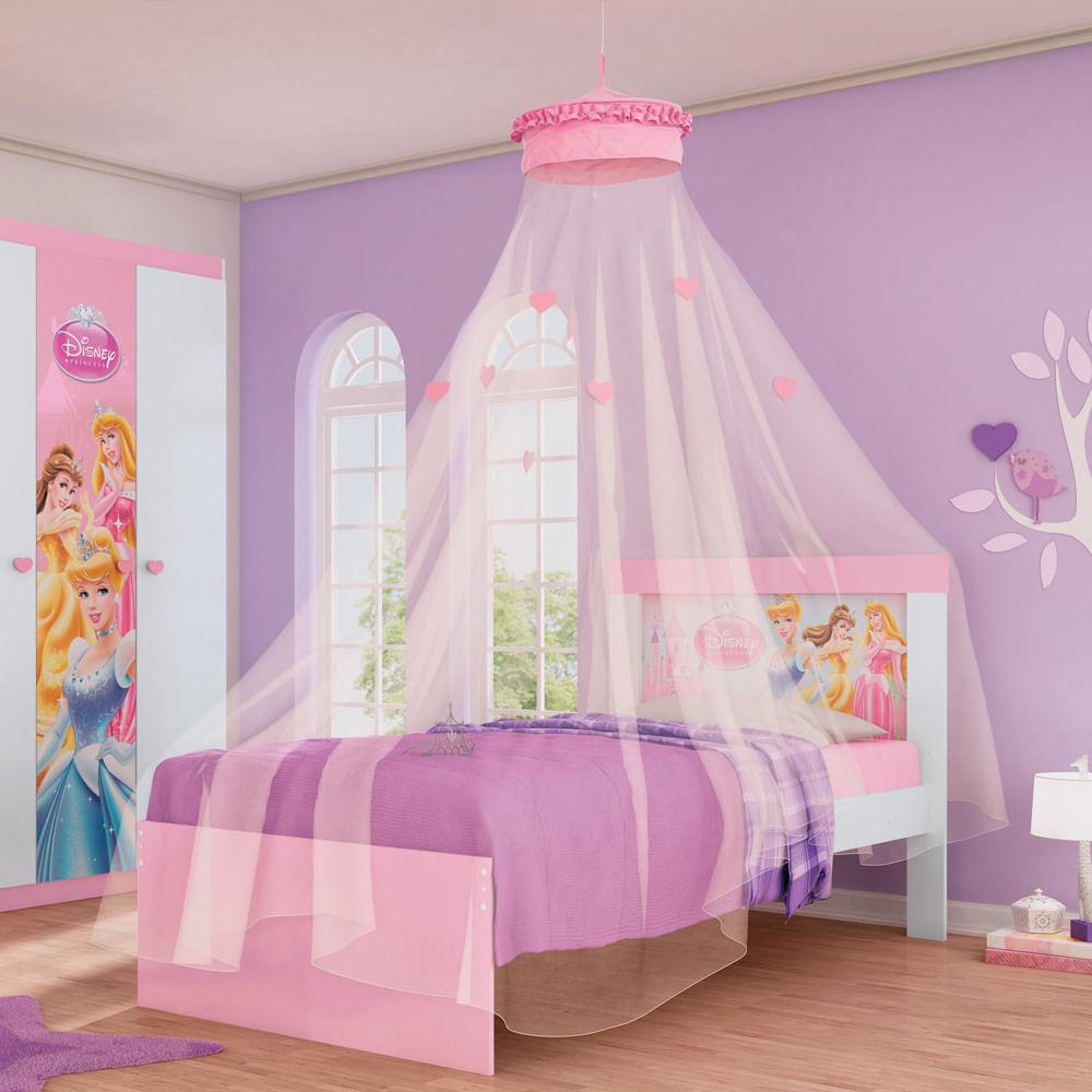 Cama infantil princesas disney happy com mosquiteiro de - Camas infantiles de princesas ...