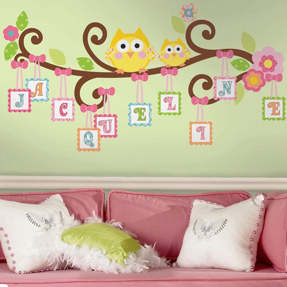 Adesivo De Flores ~ Adesivo removível infantil Letras no Ramo u2013 Roommates CasaTema
