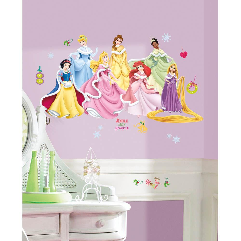 Adesivo De Parede Princesas Disney Em F Rias Remov Vel Roommates  ~ Papel De Parede Para Quarto Infantil Personagens