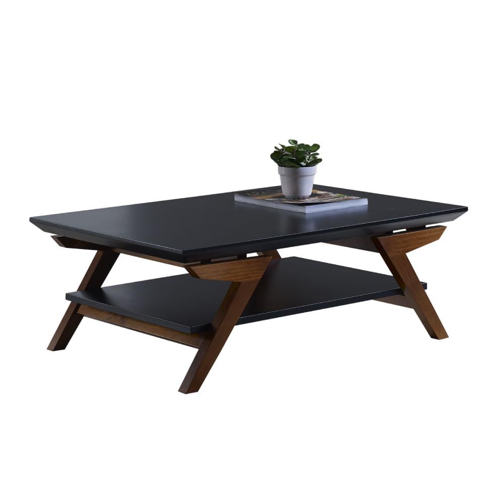 Mesa de centro com p s inclinados atlanta mdf madeira - Mesa de centro lack ...