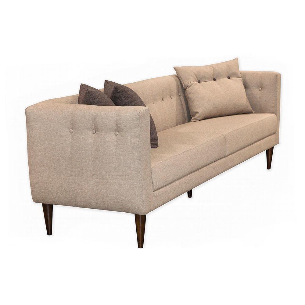 sof com 3 almofadas neon 1 63m estrutura eucalipto p s madeira maci a linho claro casatema. Black Bedroom Furniture Sets. Home Design Ideas