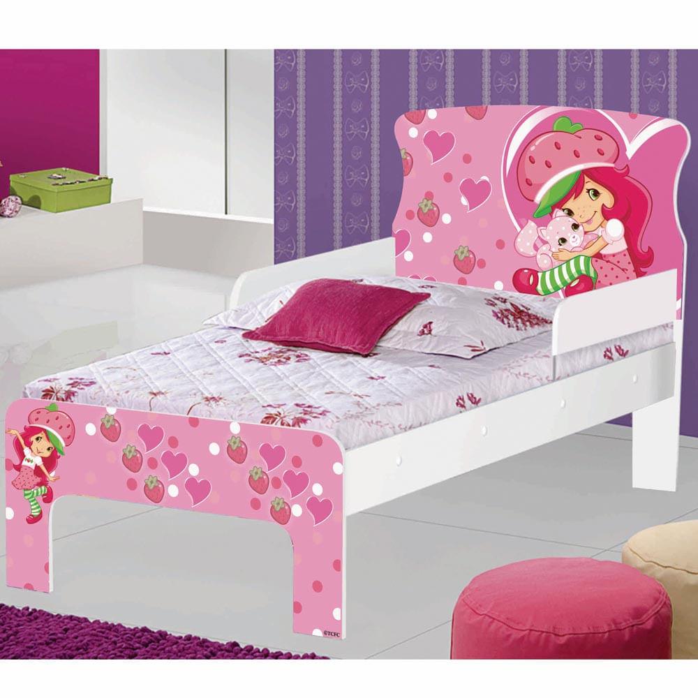 Mini cama infantil moranguinho com grade de prote o - Dosel para cama infantil ...