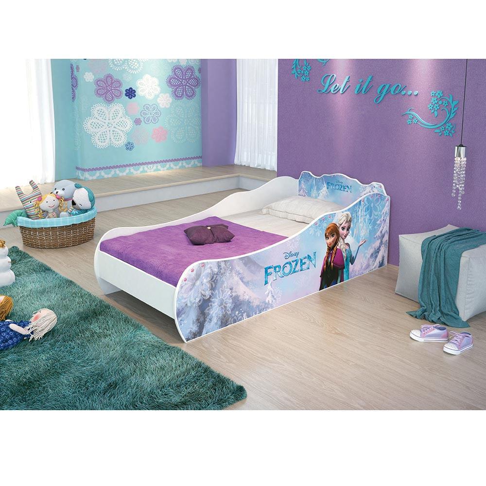 Mini cama infantil frozen disney 100 mdf pura magia - Cama infantil cars ...