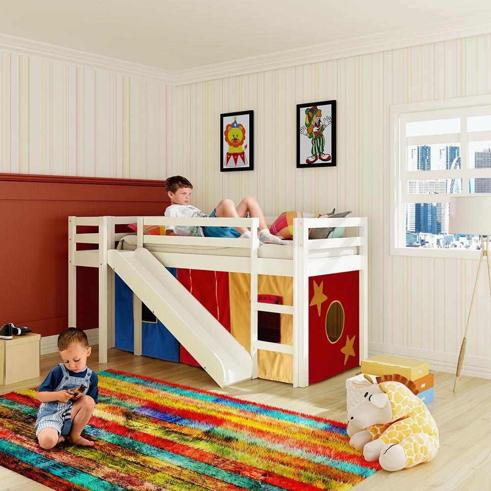 Cama com escorregador transversal maior espa o tenda for Dormitorio para quarto pequeno