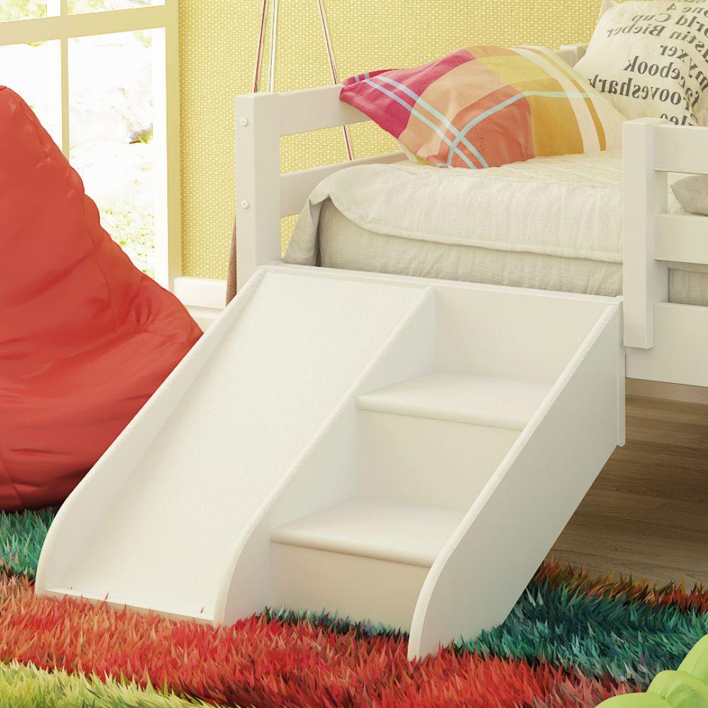 Kit escadinha com mini escorregador para cama infantil - Dosel para cama infantil ...