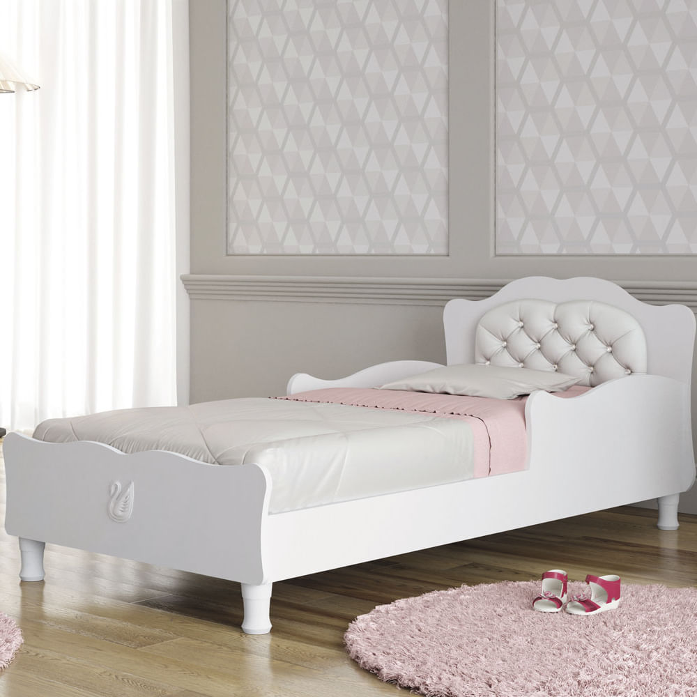 Mini cama infantil cristal clean com cabeceira estofada for Fabrica de camas infantiles