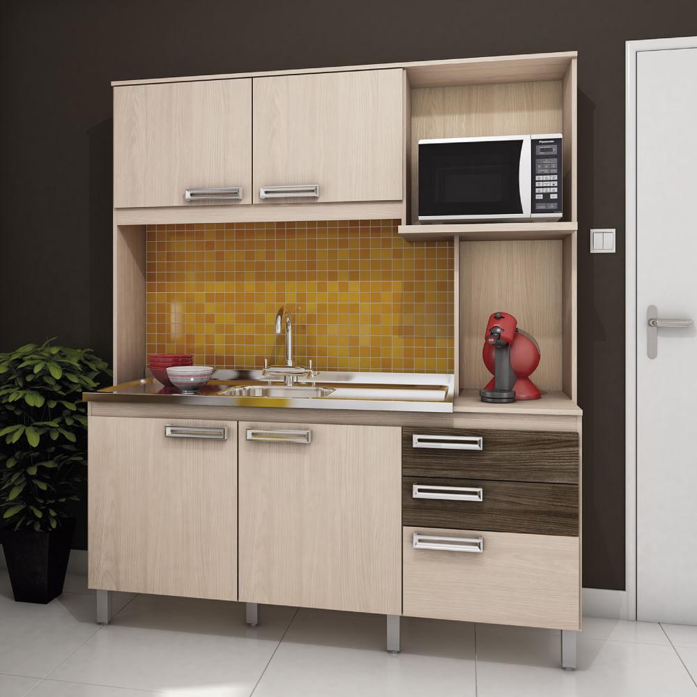Cozinha Compacta Com Balc O Multim Veis Linea Oppenau Info