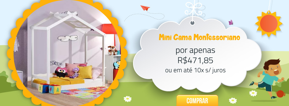 Mini cama montessoriano