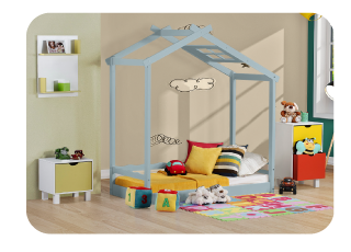 Cama Montessoriano Black