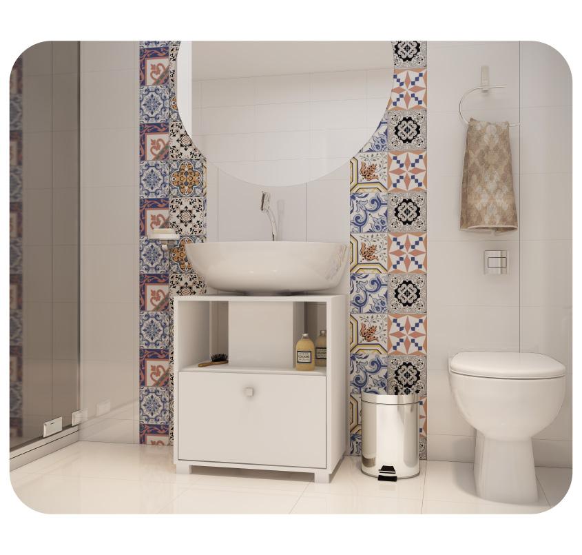 1 gabinete de banheiro