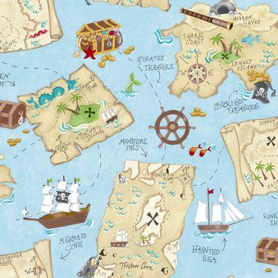 Papel_de_Parede_Infantil_azul_com_Mapa_do_Pirata_–_Peek_a_Boo_