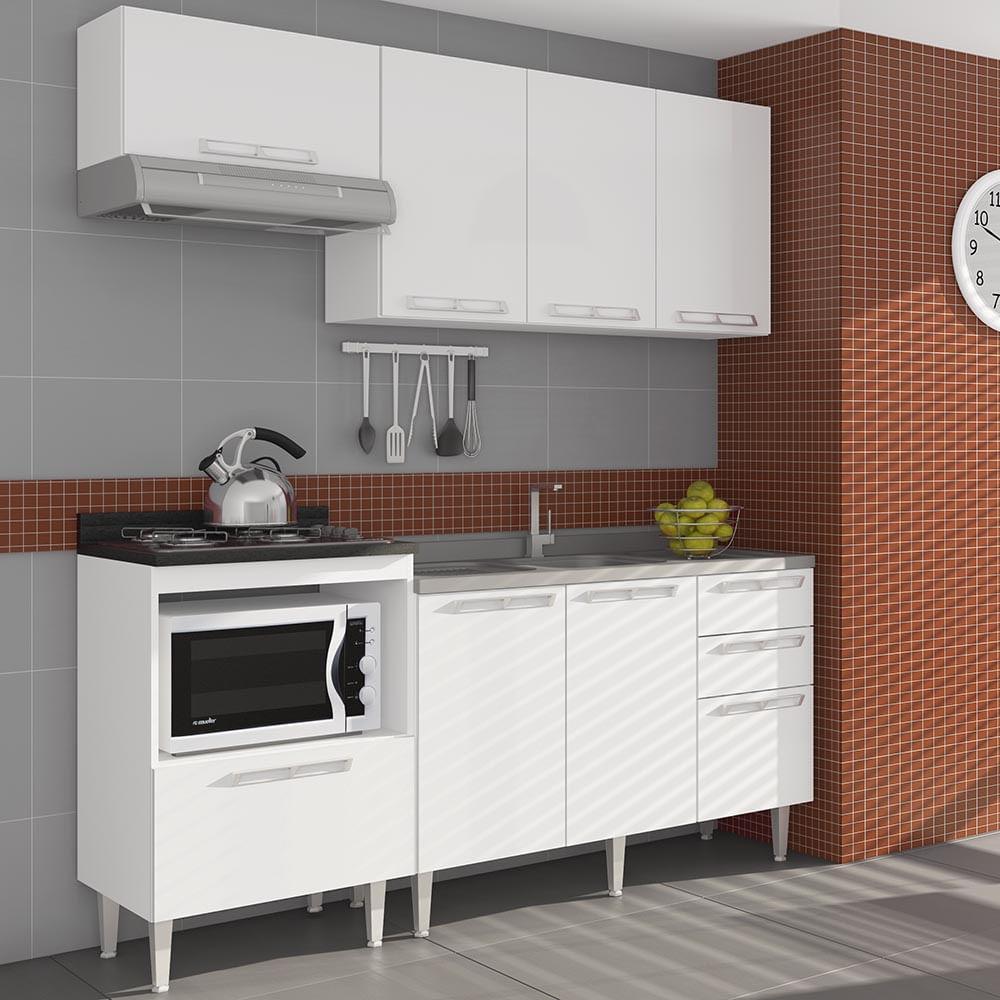 Cozinha Compacta Com 1 Balc O Para Pia 1 Tampo Balc O P Cooktop 2