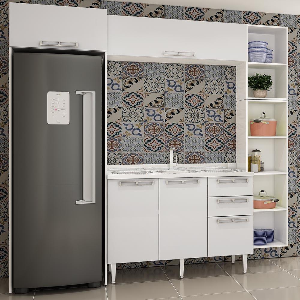 Cozinha Compacta Com Balcão P Pia Modulo P Geladeira