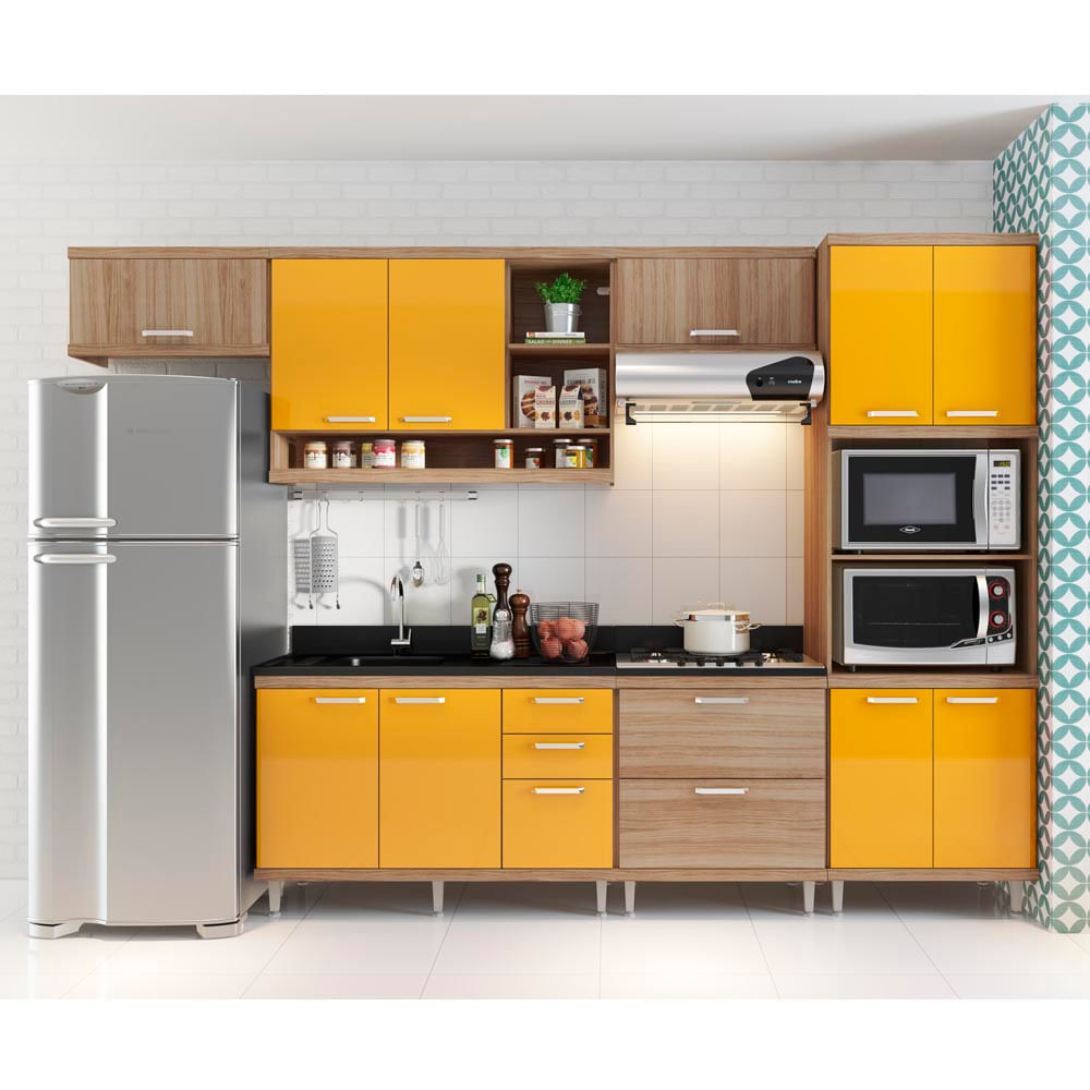 Cozinha Compacta A Reos Arm Rio P Forno Micro Ondas E Balc Es De