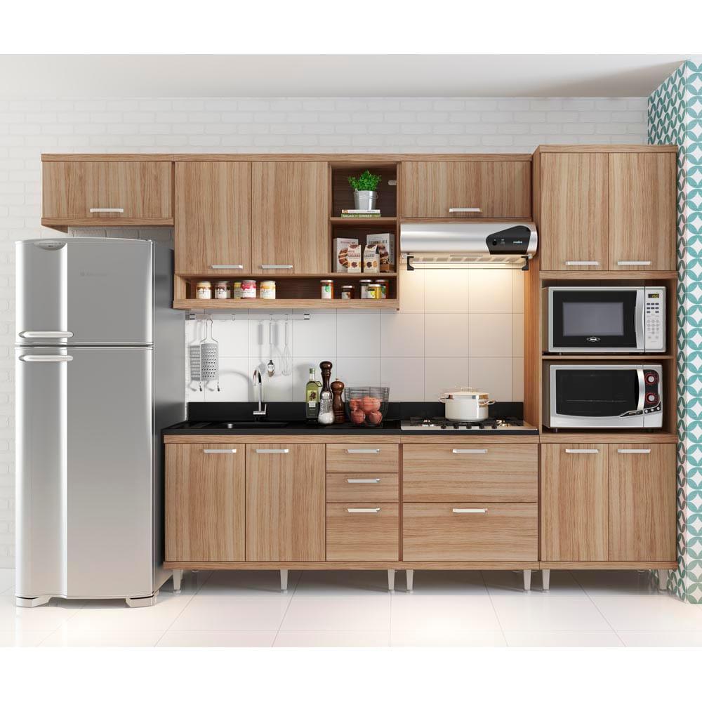 Cozinha Compacta Com A Reos 1 Arm Rio Para Forno Micro Ondas E