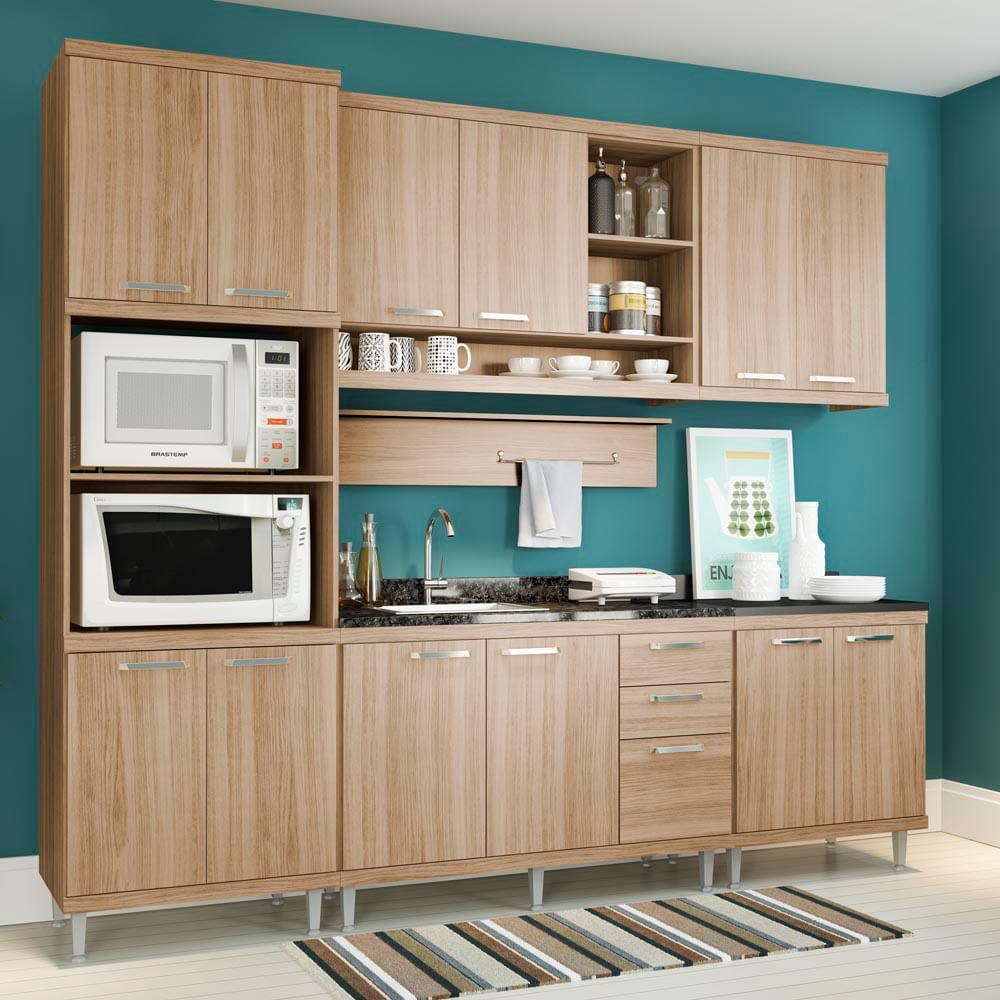 Cozinha Compacta Com 1 Arm Rio P Forno Micro Ondas 2 A Reos E