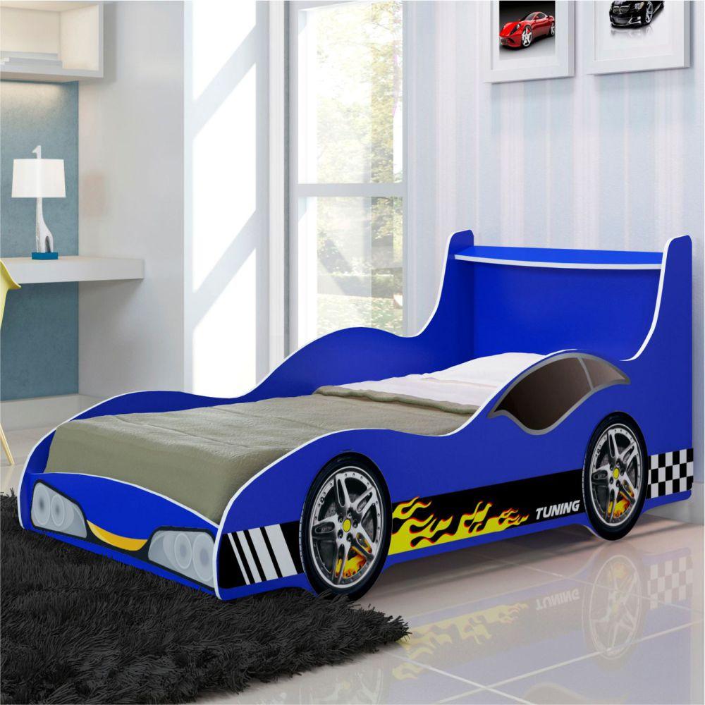 Cama infantil carro tunning azul casatema casatema - Cama coche infantil ...