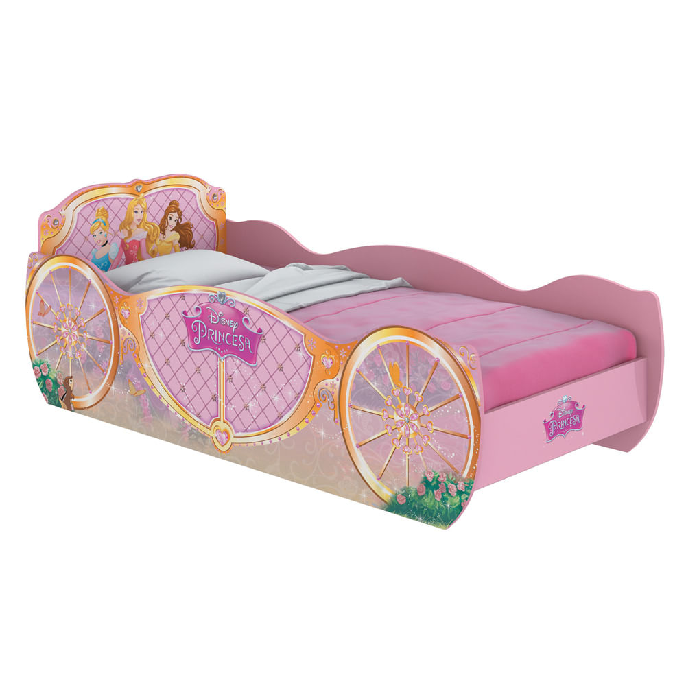 9012b79fc5 Cama Carruagem Infantil Princesas Disney Pura Magia - CasaTema
