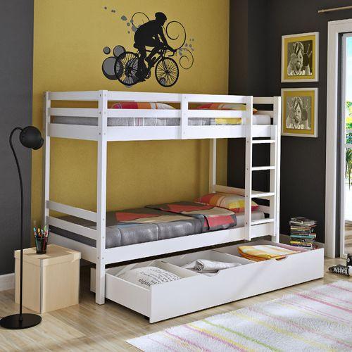 Treliche teen play gavet o ou cama auxiliar branco - Mesa auxiliar de cama ...