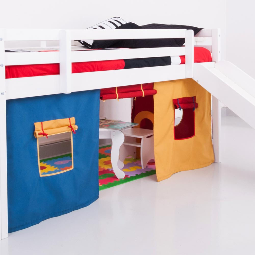 Cortina tenda multicores para cama com escorregador casatema - Cortinas para cama ...