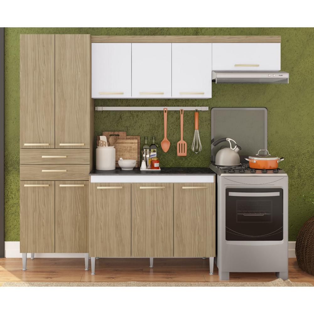 Cozinha Compacta Balc O A Reos E Paneleiro Carvalho Casatema