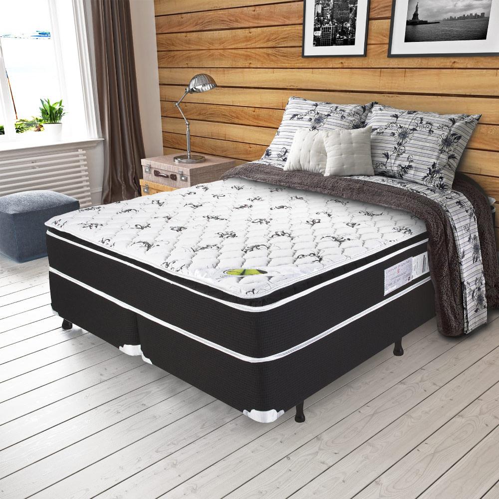 146d7d77c Cama Box Queen Size Aspen Molas Ensacadas Pillow Top - CasaTema