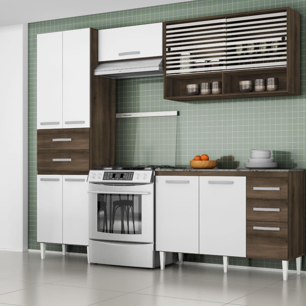Cozinha Compacta Joyce Com Paneleiro Balc O E 2 Arm Rios A Reo